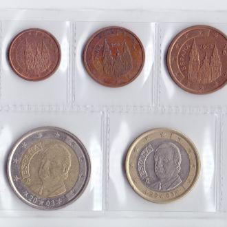 Испания Набір Євромонет 2003р. (6 монет)