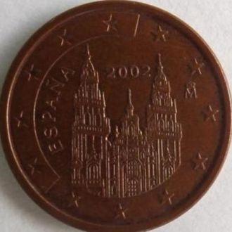 Іспанія 5 евроценти 2002р.(RRR)