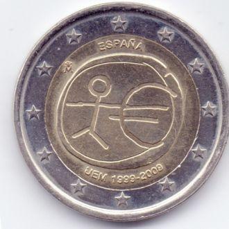 Испания 2 евро 2009р. 10 років валютному союзу !!!