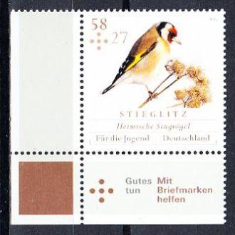 Германия 2013 фауна птицы синица щегол снегирь