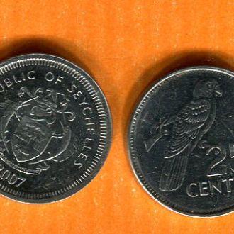 Сейшелы  Сейшельские о-ва  25 центов 2007 птица