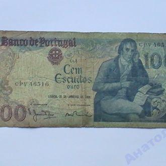 100 Эскудо 1984 Португалия 100 Ескудо 1984 р