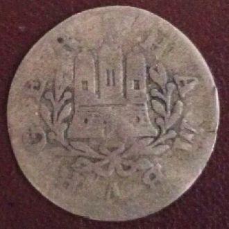 шилинг Гамбург 1757г. серебро.оригинал 100%