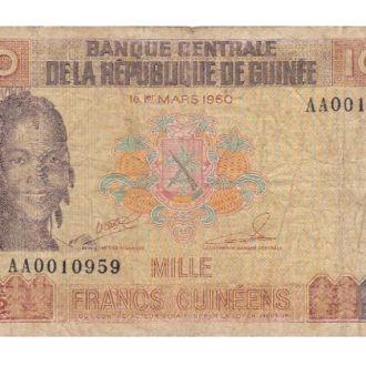 1000 ФРАНК 1985 ГВІНЕЯ