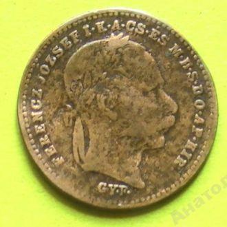 20 Крейцеров 1870 г GYF Серебро 20 Крейцерів 1870