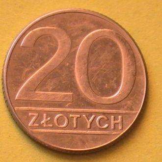 20 Злотых 1989 г Польша 20 Злотих 1989 р Польща