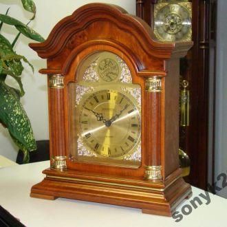 Каминные часы ореховый корпус с 1/4 боем (3119)