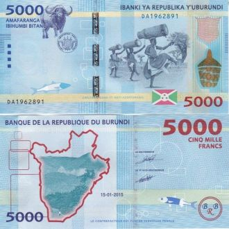 Burundi Бурунди - 5000 Francs 2015 UNC JavirNV