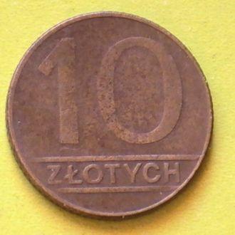 10 Злотых 1989 г Польша 10 Злотих 1989 р Польща
