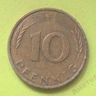 10 Пфеннигов 1990 г G Германия 10 Пфенігів 1990 р