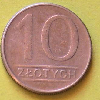 10 Злотых 1986 г Польша 10 Злотих 1986 р Польща