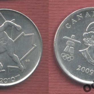 Канада 25 центов 2009 конкобежец