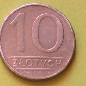10 Злотых 1987 г Польша 10 Злотих 1987 р Польща