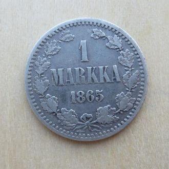 1 марка / 1 Markka 1865 S  Русская Финляндия
