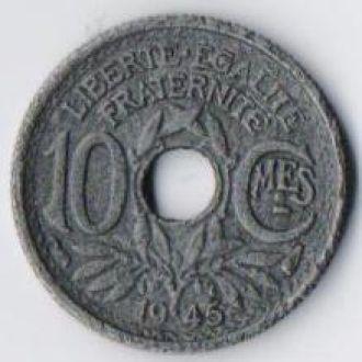 Франция 10 сантім 1945р.