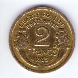 Франция 2 франки 1939 р.