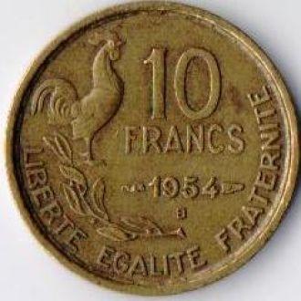 Франция 10 франків 1954В. Тип 2 - G.Guiraud !!!