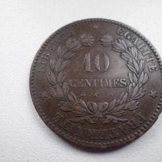 Франция 10 сантім 1872 К.
