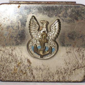Трофейная папиросница моряка ВМФ, Польша, 1948 г.