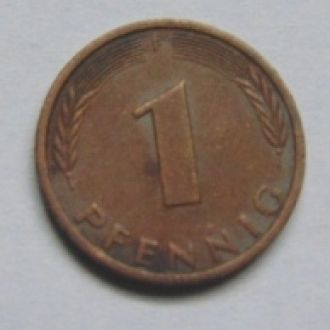 Германия 1 пфеннинг  1977г. F