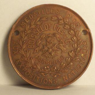 Медаль, накладка, Марсель, Франция 1855 г.