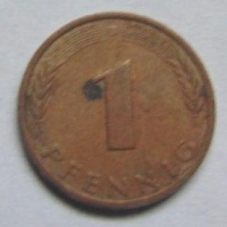 Германия 1 пфеннинг  1991г. D