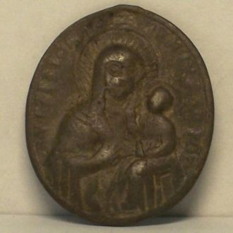 Иконка, св. Иероним, серебро, Польша, Украина 18в.