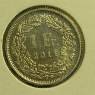 1 франк 2011 Швейцарии