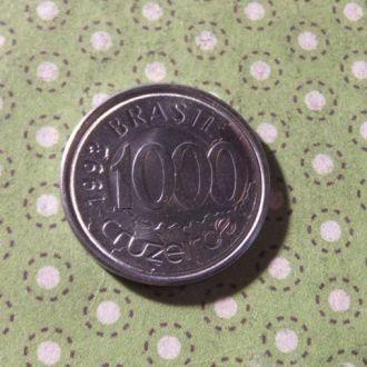 Бразилия 1993 год монета 1000 крузейро !