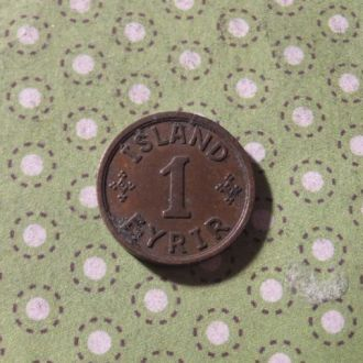Исландия монета 1 эре 1940 год