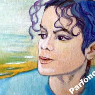 Картина масло холст Майкл Джексон портрет море Aya