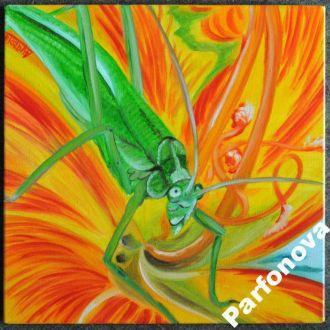 Картина масло холст цветы кузнец своего счастья