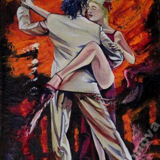 Картина масло холст танго танец страсти от AYA