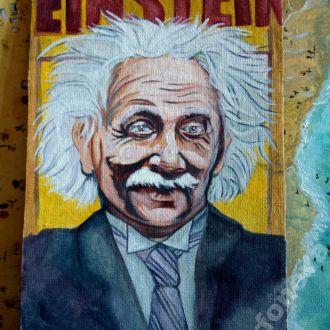картина масло холст портрет Альберт Эйнштейн