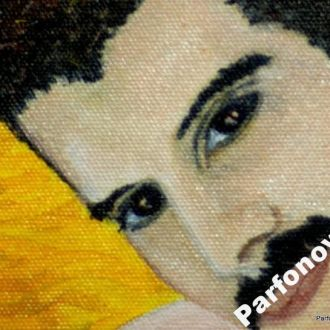 Картина белая рама Портрет Фредди Меркьюри Queen