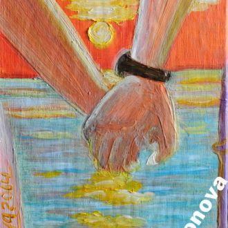Картина Рассвет медовый месяц экзотика Бора Бора