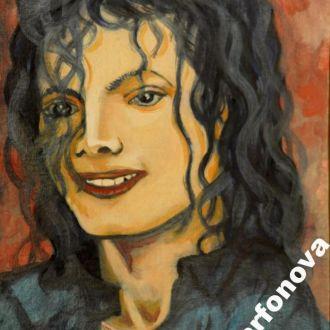 Картина масло холст Майкл Джексон портрет Aya