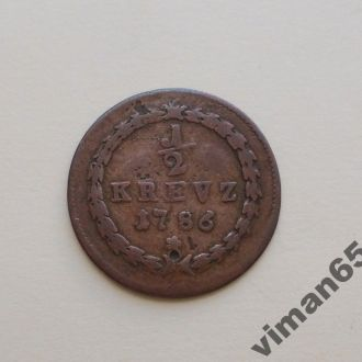 Германия Пфальц 1/2 крейцера 1786