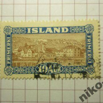 Ісландя 1925 рiк 10 аурар.