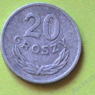 20 Грошей 1976 г Польша 20 Грошей 1976 р Польща