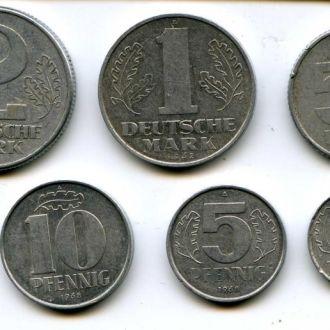 Подборка монет ГДР .