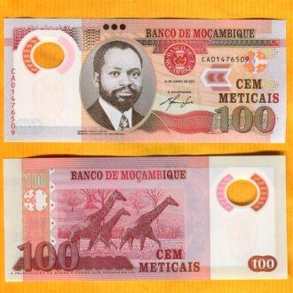 Мозамбик 100 метикас 2011 Пластик UNC фауна жираф