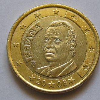 Испания_ 1 евро 2008 года оригинал