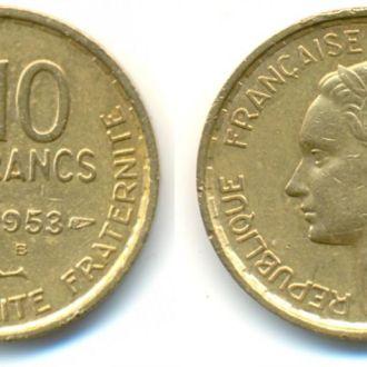 Франция  10 франков 1953 в