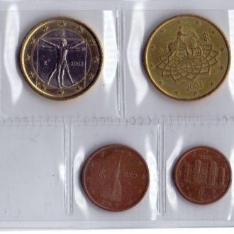 Італія Набір Євромонет 2003р . (7монет)