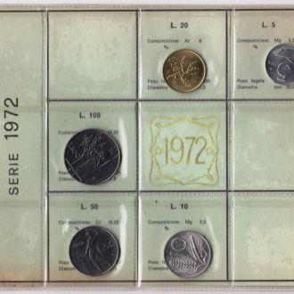 Італія набір 1972. Банківська упаковка.