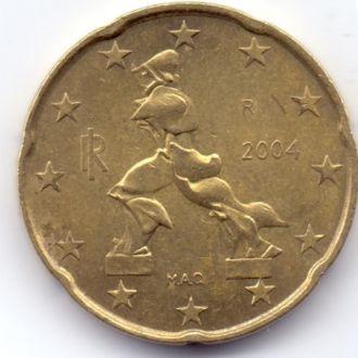 Італія 20 Євроцент 2004р.
