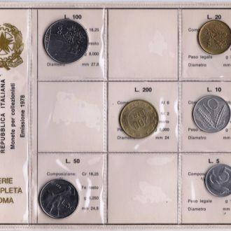 Італія набір 1978р. Банківська упаковка.