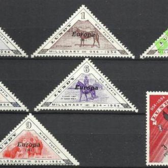 Великобритания Ланди 1961 Европа фауна кони надп.