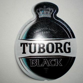 Этикетка пивная Tuborg BLACK